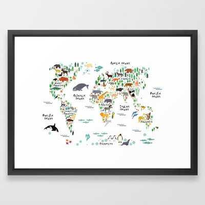 Animal World Map - Society6