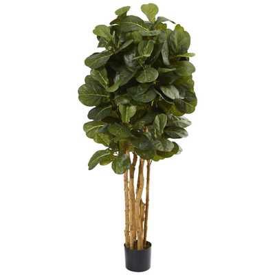 5' Artificial Fiddle Leaf Fig Tree - Fiddle + Bloom