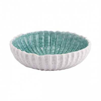 Fiore Small Bowl White & Green - Zuri Studios