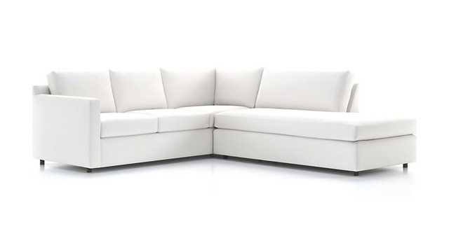 Barrett 2-Piece Right Bumper Sectional - Crate and Barrel