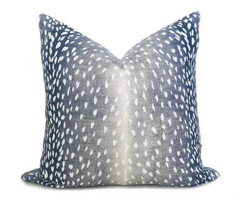 Antelope Pillow Cover - Navy Denim - Willa Skye