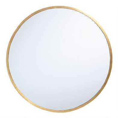 Medium Round Gold Casual Mirror (28 in. H x 28 in. W) - Home Depot
