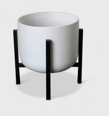 Ceramic Planter With Stand White/Black - Project 62™ - Target