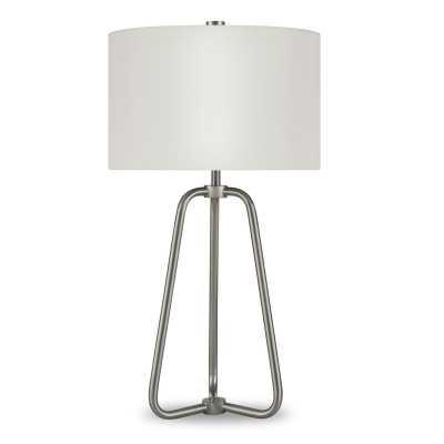 "Bella 26"" Table Lamp - Brushed Nickel - Wayfair"