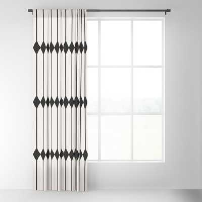 "Minimal Geometric Pattern - Black and White Blackout Curtain - 50"" w x 84"" L - Society6"