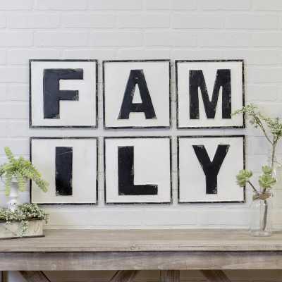VINTAGE FAMILY SIGN WALL DECOR - Birch Lane
