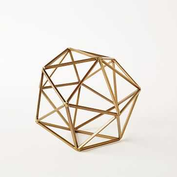 Symmetry Objects, Large Octahedron, Gold - West Elm
