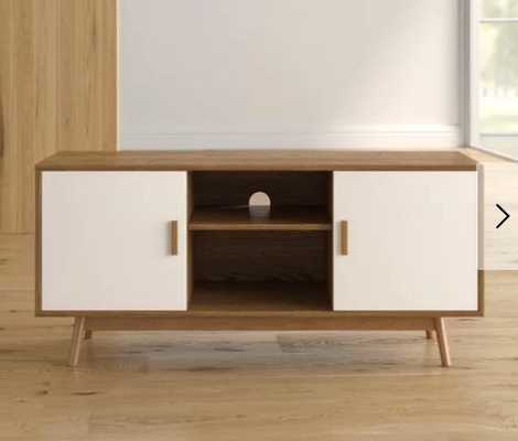 "Phoebe TV Stand for TVs up to 43"" - wood grain / white - AllModern"
