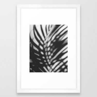 Palm leaf shadow art photo print - Society6