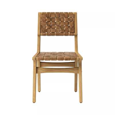 Ceylon Woven Dining Chair - White & Natural Wood - Opalhouse - Target