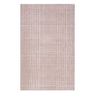 KAJA ABSTRACT PLAID 5X8 AREA RUG IN IVORY, CAMEO ROSE AND LIGHT BLUE - Modway Furniture