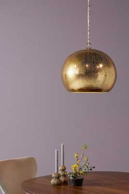 Pierced Metal Pendant - Anthropologie