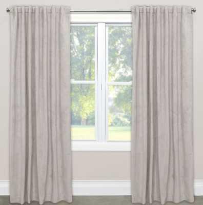 Skyline Room Darkening Velvet 96-Inch Rod Pocket/Back Tab Window Curtain Panel in Light Grey - Bed Bath & Beyond