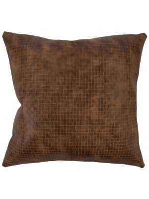 NARGES SOLID PILLOW BROWN - Linen & Seam