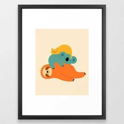 Being Lazy Framed Art Print - Society6