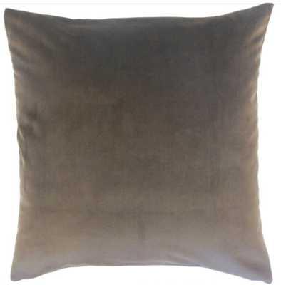 NIZAR SOLID PILLOW COAL - Linen & Seam
