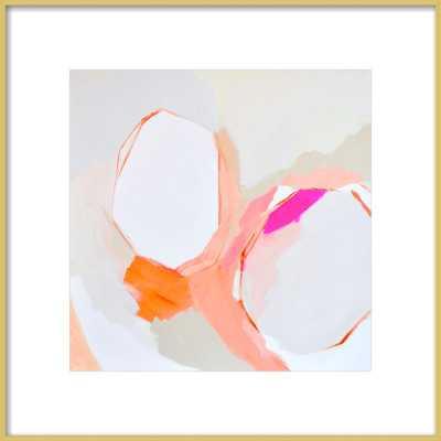 """Warm Geos - Framed art print 16"""" X 16""""- Final Framed Size: 20x20"""" - Artfully Walls"""
