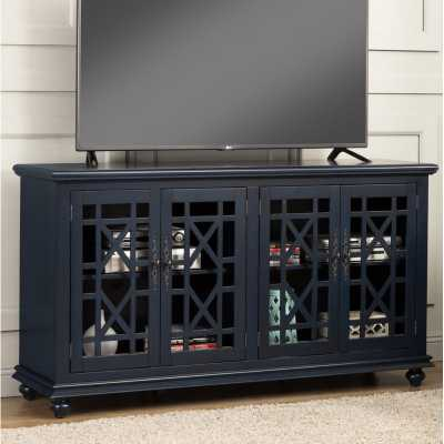 """Stiefel TV Stand for TVs up to 65""""- Catalina Blue - Wayfair"""