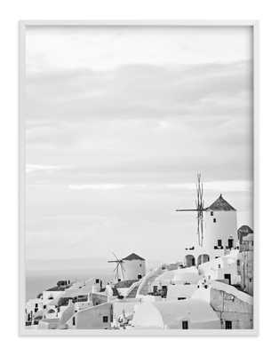 "Santorini - 30"" x 40"" White Wood Frame - Minted"