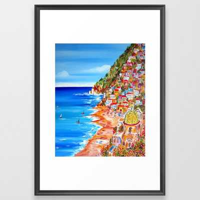 La Bella Positano by the Amalfi Coast - Vector Black - Society6