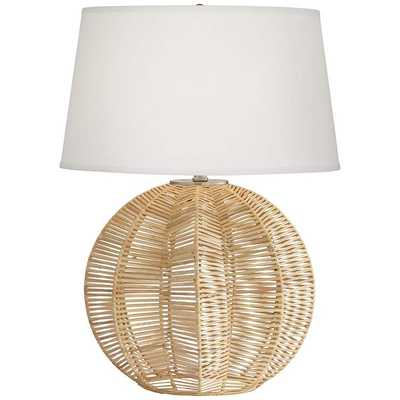 Boca Natural Rattan Ball Table Lamp - Style # 66E23 - Lamps Plus
