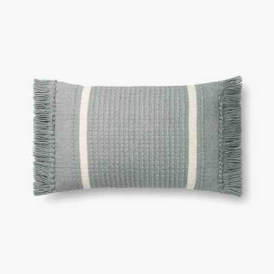 "P1128 MH BLUE Pillow 13"" x 21"" with Poly Insert - Loma Threads"