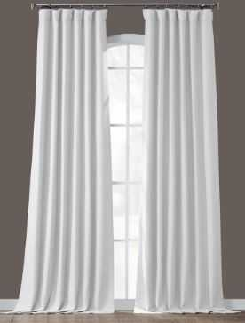 Chalk Off White Bellino Blackout Curtain - 50 in. W x 96 in. L - Home Depot
