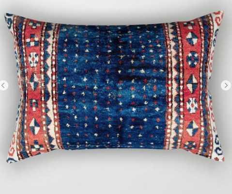 Kazak Southwest Caucasus Rug Rectangular Pillow - Society6