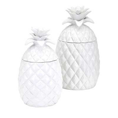 Pineapple Canisters - Set of 2 - Mercer Collection