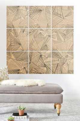 GRIDLOCKED wood wall mural - 3x3 - Wander Print Co.