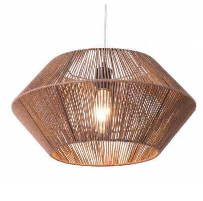 Kendrick Ceiling Lamp Brown - Zuri Studios