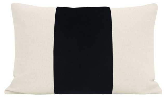 "The Little Lumbar :: PANEL Signature Velvet // Noir - 12"" X 18"" - Little Design Company"