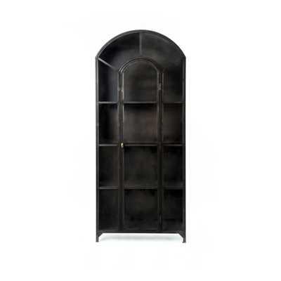 Belmont Metal Cabinet in Black - Burke Decor