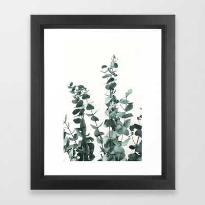 Eucalyptus Leaves Framed Art Print by ArtPrInk Studio Vector Black 10x12 - Society6