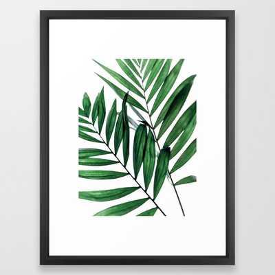 """Leaves 5 Framed Art Print - Vector Black Frame - 20""""x26"""" - Society6"""