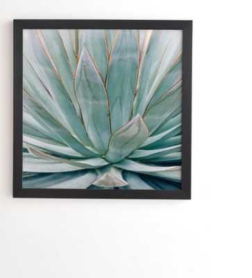 BLACK FRAMED WALL ART MINIMALIST AGAVE  BY ANN HUDEC - Wander Print Co.