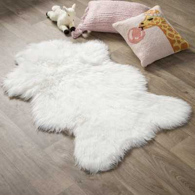 Ahamed Polar Bear Pelt Faux Fur White Area Rug - Wayfair