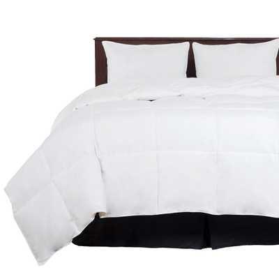All Season Year Round Warmth White Full/Queen Down Alternative Comforter - Home Depot