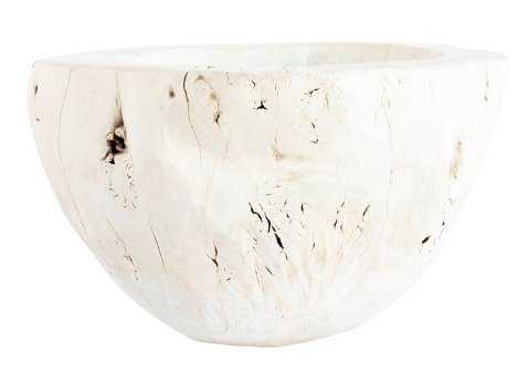 BLEACHED WOOD BOWL - McGee & Co.