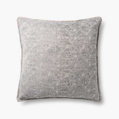 "P0890 Grey Pillow / 22"" x 22"" cover only - Loma Threads"