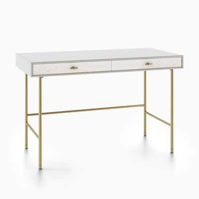 Modernist Wood & Lacquer Desk - Winter Wood - West Elm