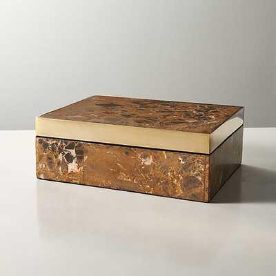 mineral stone box - CB2