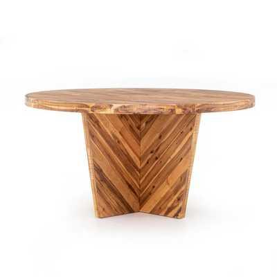 Alexa Round Dining Table, Honey - West Elm
