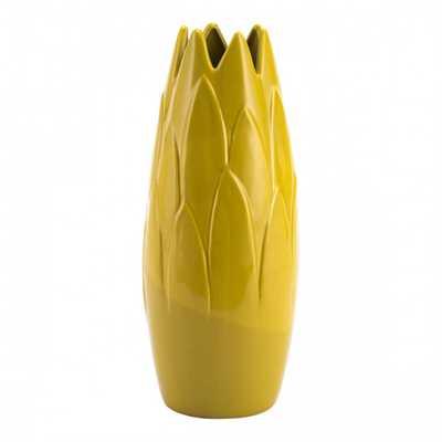 Arti Medium Vase Lemon Yellow - Zuri Studios
