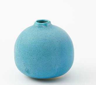 Judy Jackson Tiny Stoneware Bottle Round, Weathered Green - West Elm
