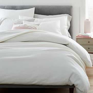 Hemp Cotton Solid Duvet, King, Undyed Natural - West Elm