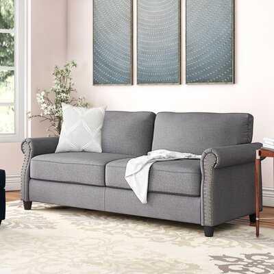 "Gray Yana 77"" Rolled Arm Sofa - Wayfair"