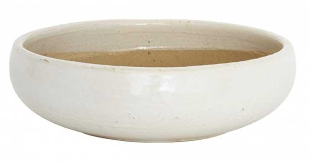 WHITE SHALLOW BOWL - medium - Jayson Home