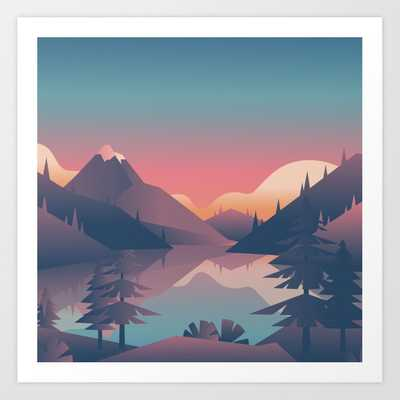 Mountains Art Print - Society6