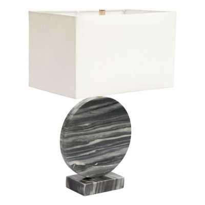 Simi Table Lamp White & Black - Zuri Studios